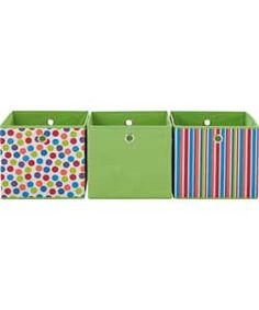 Modular Spots and Stripes Set of 3 Storage Cubes - Multi.