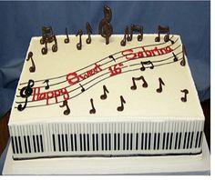 cake with music notes   Wedding Cakes   Orange County Cakes   Riverside Cakes   Birthday Cakes ...