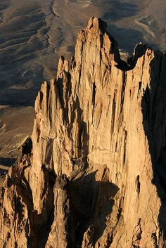Aerial view of Shiprock, Navajo Nation, New Mexico; photo by Dean Cully