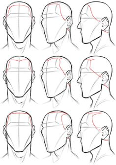 Manga Character Drawing image - Hello, if you have the time, could you explain how hair lines work? specifically on men because I am struggling :-( Well, I can give you some tips based on how I do it. Your mileage may vary. Male Face Drawing, Drawing Heads, Male Figure Drawing, Guy Drawing, Character Drawing, Drawing Tips, Sketching Tips, Anatomy Sketches, Anatomy Drawing