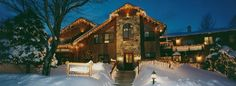 """This is the """"Snowed Inn"""" Bed and Breakfast in Park City Utah.  It is in ski resort country, and at times you can only get up to the lodge by horse drawn sleigh...through the snow!"""