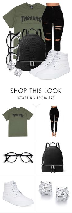 """Untitled #570"" by msfts-rep on Polyvore featuring MICHAEL Michael Kors and Vans"