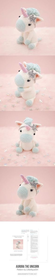 Aurora The Unicorn Amigurumi Pattern                                                                                                                                                                                 Plus