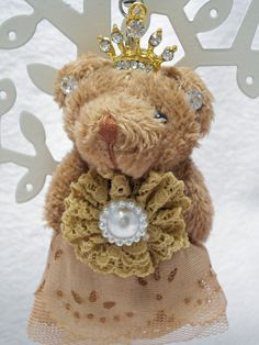 Teddy bear Plush Strap (Tiara/Brown) #Unbranded #AllOccasion