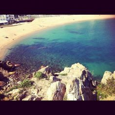 View down to the water from Sa Palomera in Blanes <3