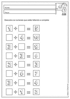 Resultado de imagem para ATIVIDADE DE MATEMÁTICA PARA O 2º E 3º ANO