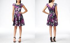 Betsey Johnson Floral-Print Fit-&-Flare Dress