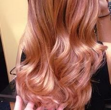 Just a pink or Rose shade TONER applied on top of the blonde