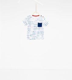 Imagem 1 de Blusa às riscas pontilhadas da Zara