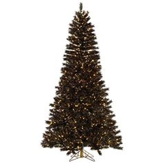 Vickerman 331750  75 x 48 Mardi Gras Tinsel 700 Clear DuraLit Miniature Lights Christmas Tree A148576 ** You can get additional details at the image link.