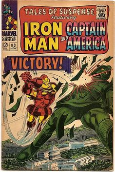 SILVER AGE 1966 TALES OF SUSPENSE #83 IRON MAN/CAPT AMERICA/TUMBLER by J. KIRBY