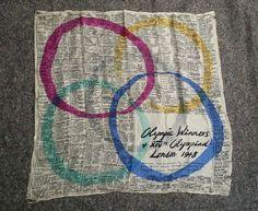 RARE vintage Arnold Lever 1948 Olympics winners Silk Scarf Harrods   eBay