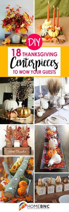 DIY Thanksgiving Centerpiece Ideas #homedecor #decoration #decoración #interiores