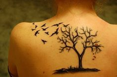 Updated tree - 60 Awesome Tree Tattoo Designs  <3 <3