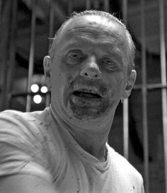 Hannibal Lecter by Anthony Hopkins in The Silence of the Lambs