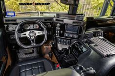 If I ever hit the big Powerball, this would be my selfish splurge! Hummer Tactical Search & Destroy Tier 1 For Sale Hummer Interior, Truck Interior, Hummer Truck, Jeep Truck, Cool Trucks, Big Trucks, Carros Suv, Tactical Truck, Automobile