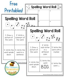 Free spelling activities that can be used with any list of words ...