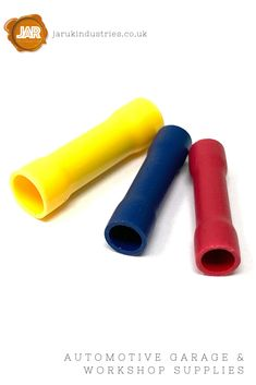 Butt Connectors (Red, Blue, Yellow), (Pack 100 or