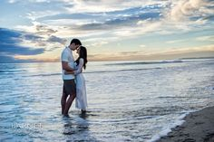 One of our favorites from this Orange County beach engagement session!