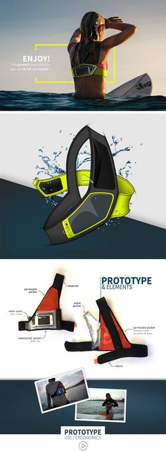 The First Smart Surfing Bag takes the stress out of stashing your stuff while your surfing. Worn comfortably across the upper body, it provides a convenient, safe place for your belongings without hindering movement. Future Gadgets, Cool New Gadgets, Gadgets And Gizmos, Futuristic Technology, Technology Gadgets, Unique Backpacks, Surf Accessories, Affinity Photo, Industrial Design Sketch