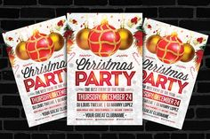 30%OFF Christmas Party Flyer by Louis Twelve on @creativemarket