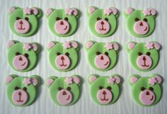 Fondant Cupcake Toppers - Teddy Bears