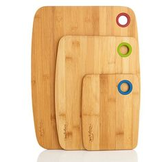 Wolfgang Puck Set of 3 Bamboo Cutting Boards
