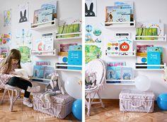 Dziewczynka z guzikiem - Blog rodzicielski i dziecięcy: Biblioteczka z półek na przyprawy Ikea - hit, czy kit?