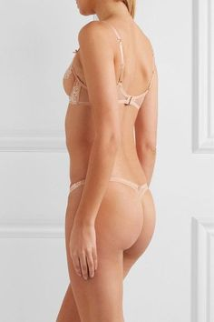 L'Agent by Agent Provocateur - Angelica Lace And Stretch-tulle Underwired Bra - Blush - 36DD