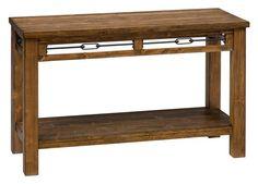 San Marcos Transitional Solid Wood Sofa Table w/Shelf