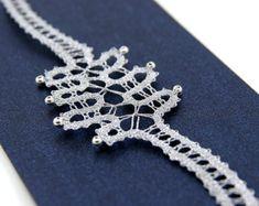 Black Bobbin Lace Bracelet with Golden Pearls and Wavy Pattern Lace Bracelet, Crochet Necklace, Lace Jewelry, Unique Jewelry, Occasion Spéciale, Bruges Lace, Bobbin Lace, Silver Pearls, Flower Shape