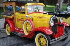 Vintage car with coke on the side ........  #coke ....... #coca-cola