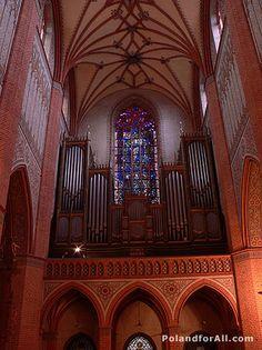 Cathedral organ loft for Pelplin cathedral-pipe organ
