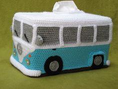Ravelry: Volkswagen Bus Camper Van Tissue Box Cover pattern by Millionbells