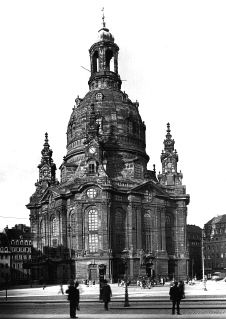 Frauenkirche and New Market square, Dresden, 1930