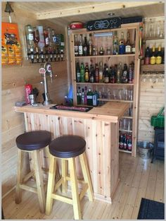 Backyard Shed Bar Ideas, It is possible to estimate the right sizing just considering the things which you will need to store in the shed. A bathroom shed is an excellent solu., Fine Backyard Shed Bar Ideas backyard shed bar ideas Home Bar Rooms, Diy Home Bar, Bars For Home, Backyard Bar, Patio Bar, Pallet Furniture Shelves, Furniture Ideas, Handmade Furniture, Industrial Furniture