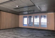 Variflex® VX110 48dB double suspension finished with a white oak veneer frame and glass inserts or solid white oak veneer panels was installed at Umhlanga Ridgeside & Multiply Offices
