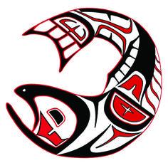 last salmon fish Haida Kunst, Arte Haida, Haida Art, Native American Totem, Native American History, Arte Tribal, Tribal Art, Tribal Drawings, Black Feather Meaning