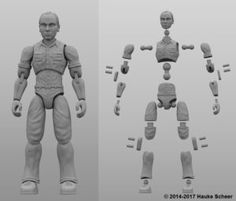 Hauke Scheer's New 3D Printed Action Figure Can Move Better Than Many Humans