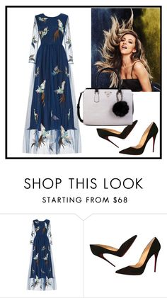 """""""Untitled #2"""" by dzemila-c ❤ liked on Polyvore featuring Christian Louboutin and GUESS"""