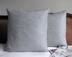 Johoel Decor Cushion | C7M-JDC-S4 | Bring a burst of freshness to your room with the Johoel Grey and White Stripe Cushion. A classic printed stripe cushion with back envelope opening and feather inner pad. Mix and match with Dinah Dreams Quote Cushion to create a stylish and modern living space in your home | £40