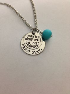 Hand stamped necklace inspired by The Fault In by StellaStamped