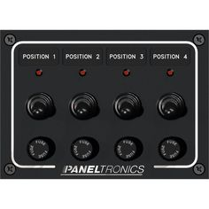 Paneltronics Waterproof Panel - DC 4-Position Toggle Switch & Fuse w-LEDs [9960008B]
