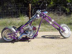 Royal Purple Custom Chopper