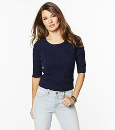 Back Zip Cropped Sweater
