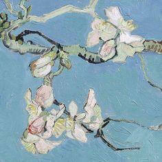 lonequixote:Almond Blossom(detail) -Vincent van Gogh  Boutique du Toril