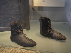 Ladies Boots - Oseberg 172  Leather shoes from the Oseberg burial, via Flickr.