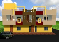House Front Design, Arch, Company Logo, Construction, Exterior, 3d, Bedroom, Building, Longbow