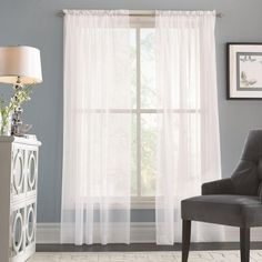 2-pack Voile Sheers - Curtain for $14.97