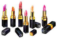 Chanel Lip Sticks - Illustration by Sunny Gu #fashion #illustration #fashionillustration